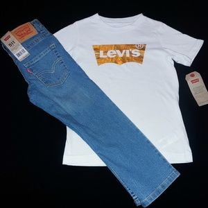 Levi's Boys Toddler 2pc Jean's Tee Set